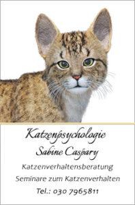 Katzenpsychologie Sabine Caspary